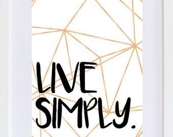 Live Simply PRINT