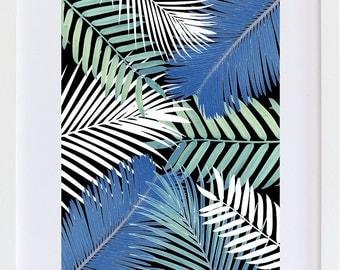 Tropical leaves Print  |  Wall Art