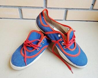 Soviet vintage gumshoes, retro sport sneakers USSR