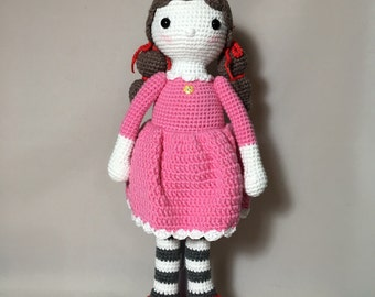 Doll with Pink Dress-Free Shipping!