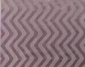 Vertical Zig Zag Pattern Fabric in Lilac Purple Color