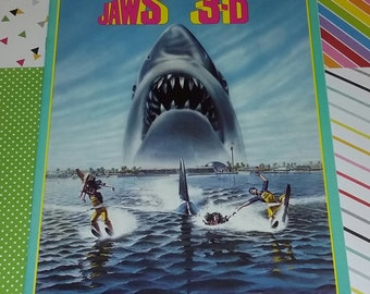 Vintage 1983 Jaws 3-D Movie Program