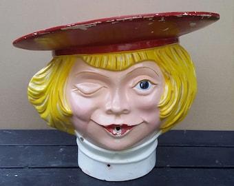 Vintage 1970s Buster Brown Large Fiberglass Store display Helium Head