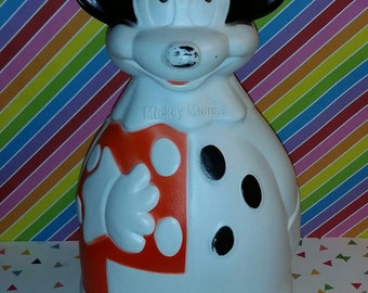 Vintage 1960 Nabisco Wheat Puffs Mickey Mouse Container Bank