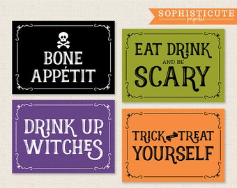halloween signage printable party signs halloween party halloween puns - Halloween Pubs