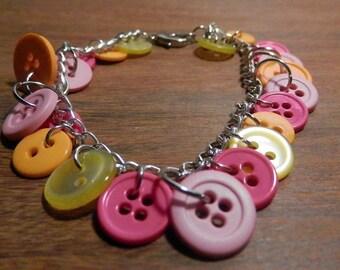 Summer Sherbet button bracelet