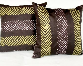 """Adire/African Tie Dye Decorative Couch Pillow 