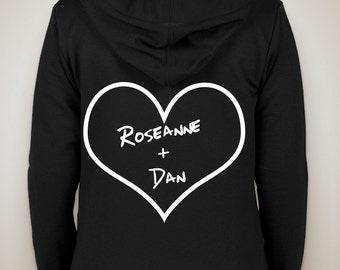 """Roseanne """"Roseanne + Dan"""" Zip-Up Hoodie"""