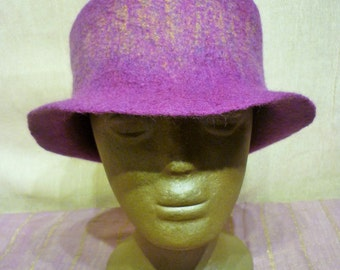 hand felted dandy style hat, hand made 57cm