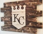 Kansas City Royals wood sign