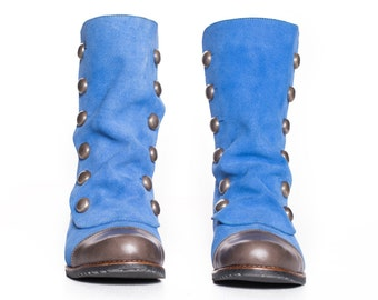 Siga Shoes Nora Boots-Blue