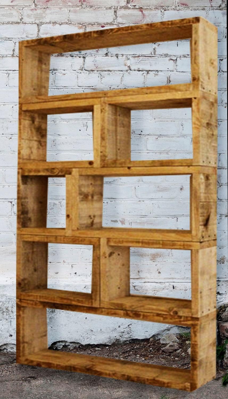 Individual order wood bookcaserecycled furniturepine - Mobilier en bois de palette ...