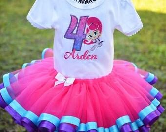 Shimmer or Shine Genie Birthday Tutu Set Girls Custom Personalized