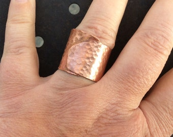 Handmade copper ring. Adjustable