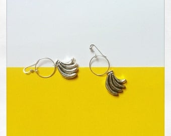 Bananas Silver Earings