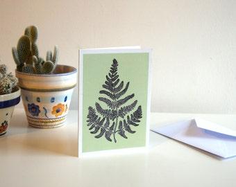 Light Green Fern - A6 Botanical Illustration Greeting Card