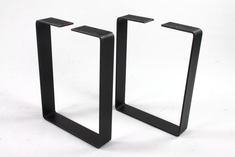 set of 2 heavy duty bench legs steel legs industrial table. Black Bedroom Furniture Sets. Home Design Ideas