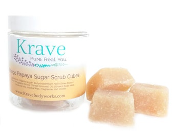 Solid Sugar Scrub - Mango Papaya – Sugar Scrub – Exfoliating Scrub- Skincare