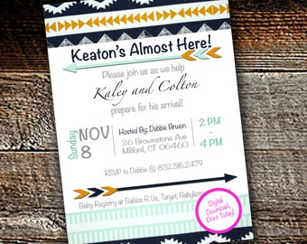 AZTEC Baby Shower Invitation - Print today!