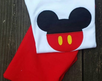 Mickey mouse outfit, boys mickey outfit, boys clothing, mickey birthday, boys pant set, mickey outfit, Disney clothing