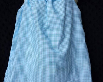 Gingham Ruffle Neck dress Ready To Ship