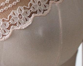 Téta / Body lace / powdered Rose / Lingerie Vintage / size S / 80's