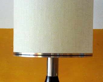 Chrome table lamp Reggiani Sciolari era 1 luce shade Made in Italy 1970s