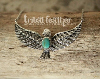 Silver 925 SUN Turquoise necklace