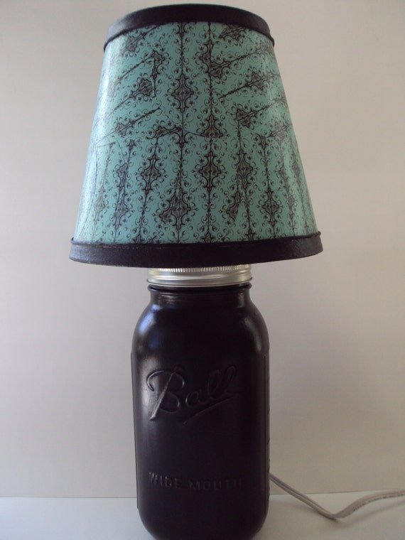 mason jar lamp accent lamps home decor southern decor home lighting. Black Bedroom Furniture Sets. Home Design Ideas