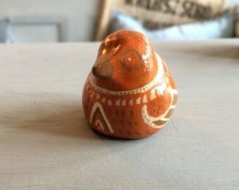 Native Orange Bird Totem
