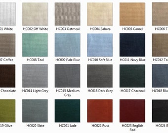 LINEN BLEND: 12 oz Linen/Cotton Basketweave Fabric by the yard