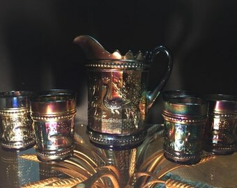 Northwood Carnival Glass Water Set