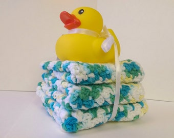Baby Wash Cloths, Rubber Ducky, Boys wash cloths, Cotton wash cloths, Wash cloth set, Baby face cloths