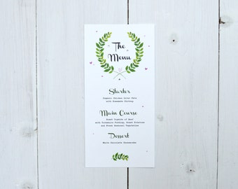 Woodland Wedding Menu
