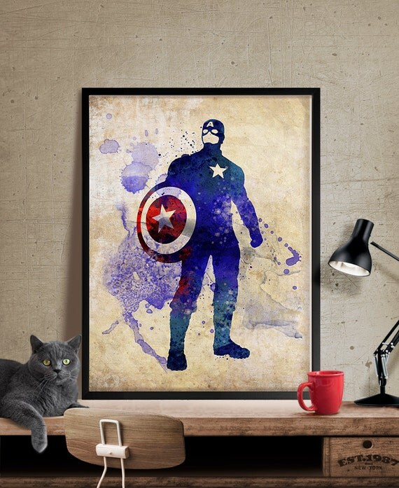 captain america captain america print wall art marvel