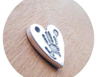 Beautiful gem stone Handprint Necklace, Handprint jewelry Handprint jewellery