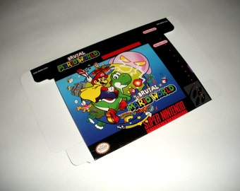 SNES - Brutal Mario World Retail Style Game Box