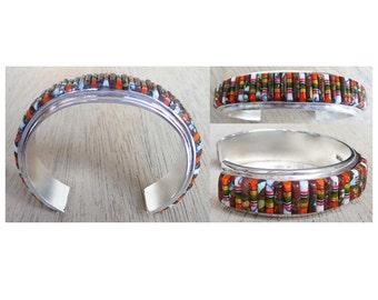 Gorgeous Cornrow Inlaid Sterling Silver Bracelet