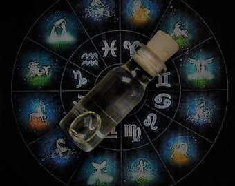 ZODIAC SIGN Ritual Oil, Potion, Elixir, Anointing Oil, Spell Oil, Wicca, Witchcraft, Pagan ~ Choose Your Zodiac Sign