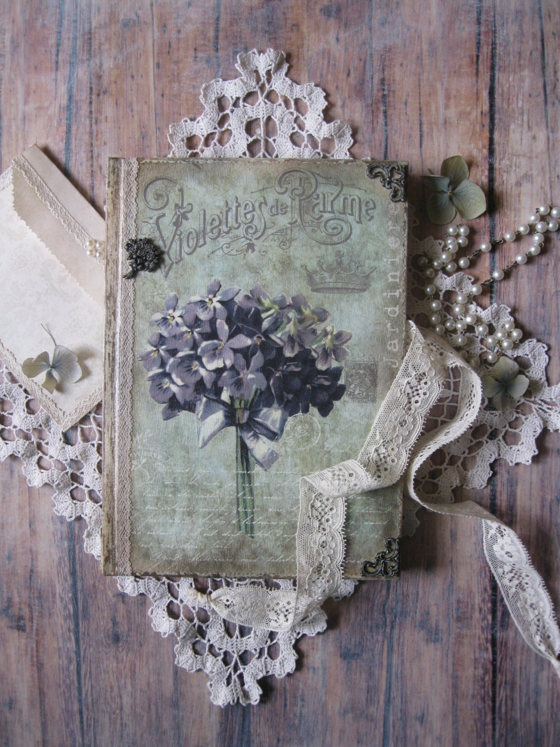 Violet diary journal notebook vintage style diary vintage