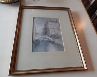 VINTAGE PRINT ENTITLED Whistler - Venice