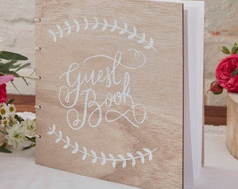 Wooden Vintage Wedding Guest Book - Perfect for that boho, rustic, chic wedding!