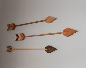 Wood Arrows, Nursery Decor, Bravery, Courage, Arrows, Home Decorations, Wall Arrow, Cedar, Mahogany, Reclaimed, Handmade, Baby Room Archery