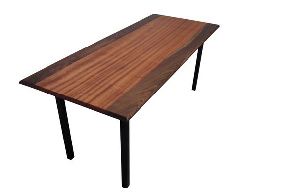 Narrow Mahogany Walnut Dining table With Ash Parson Base : il570xN10318388948xre from www.etsy.com size 570 x 380 jpeg 19kB