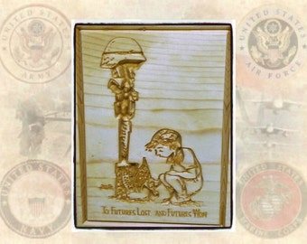 Futures Lost Futures Won Plaque, Military, Army, Navy, Air Force, Marines, Military Art, Carved Wooden Sign, Wooden Signs - FREE SHIPPING