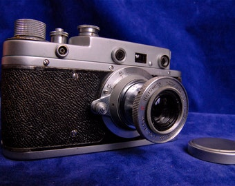 Zorki C Vintage Russian 35mm Range finder Film Camera Leica Copy Photography Photo Collectable 50 mm Lens