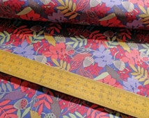 Acorns and Leaves Autumn Fields Cotton Fabric Lewis and Irene FQ