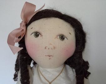 Edwardian Doll, Victorian Doll, Handmade Doll, OOAK Cloth Doll, OOAK Art Doll, Cloth Art Doll, Folk Art Doll, Fabric Doll, Textile Doll