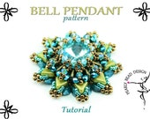 BELL pendant pattern tutorial with Kheops par Puca beads and Quadra Tile