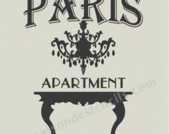 Paris Apartment Chandelier Stencil (12x12)